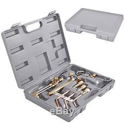 10 PCS Gas Welding & Cutting Kit Oxygen Torch Acetylene Welder Tool Set with Case