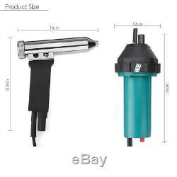 1080W 1600W Hot Air Torch Gas Heat Gun Plastic Welding Welder + Nozzle Roller