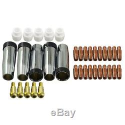 10X35Pcs 24KD Welding Torch Consumable 0.8mm MIG Torch Gas Nozzle Tip Hold D2X3