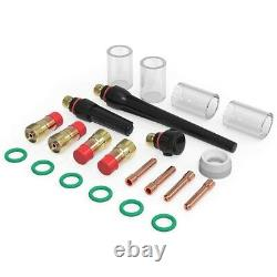 10XTIG Welding Torch Stubby Gas Lens 10 Pyrex Glass Cup Kit for WP-17/18/26