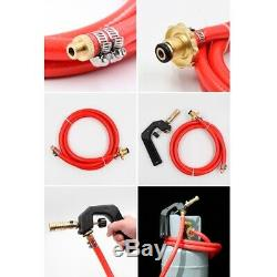 10XTurbo Hose Torch Gas Welding Torch Kit with 2M Hose for Solder Heating M4L4