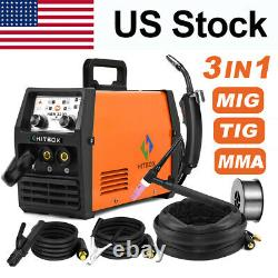 120A 3-IN 1 MIG Welder 110/220V TIG ARC Inverter No gas MIG Welding with TIG Torch