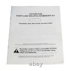 15 PCS Gas Welding & Cutting Kit Oxygen Torch Acetylene Welder Tool Set with Case