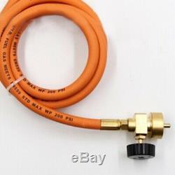 1600°C Mapp Gas Self Ignition Plumbing Turbo Torch+Hose Solder Propane Welding U