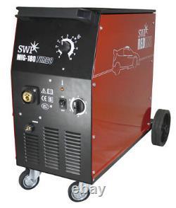 180 Amp Mig Gas Gasless Welder&Euro Torch Workshop No 180A Welding 2yrs Warranty