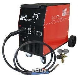 180Amp Mig Gas Gasless Welder & Euro Torch Workshop No 180A Welding 2yr Warranty