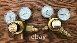 $200 NEW National Torch OXYGEN & ACETYLENE Regulators Welding Gas Torch Cutting