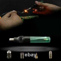20X12 in 1 Cordless Torch Solde Kit Butane Gas Electric Welding Pen Tool MT-100