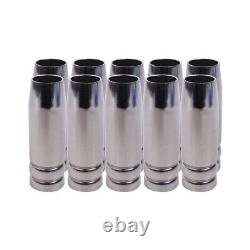 20X15Ak Gas Nozzle 10Pcs Mig Welding Torch Gas Nozzle Contact Tip For Mig Mag