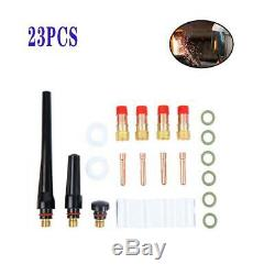 23pcs TIG Gas Lens Collet Body Consumables Kit f/ WP 17 18 26 TIG Welding Torch