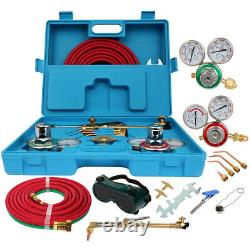 3 Nozzles Oxygen And Acetylene Welding Cutting Outfit Torch Gas Welder Tool