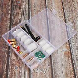 30PCS TIG Welding Torch Gas Lens 4#-12# Glass Cup Kit for WP-9/20/25 TIG Weld