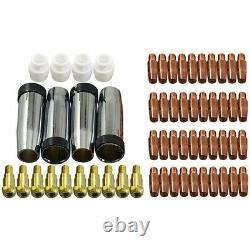 30XContact Tip Conical Gas Nozzle Tip Holder & 24KD MB24 MIG MAG Welding Torch