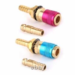 30XWater Cooled Gas Adapter Connector Fitting For Tig Welding Torch+8Mm Plug