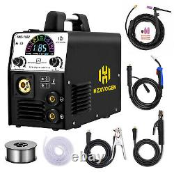 4in 1 LED MIG Welder 220V Gas Gasless ARC TIG MIG Welding Machine with TIG Torch