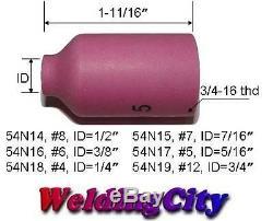 5-pk TIG Welding Ceramic Gas Lens Cup 54N17 #5 Torch 17/18/26 US Seller Fast