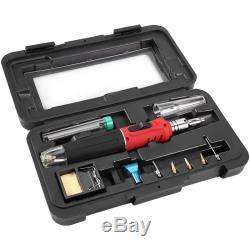 5X10 in 1 Professional Butane Gas Soldering Iron Kit Cordless Welding Torch m9u