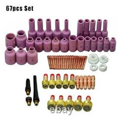 67/Set TIG Gas Lens Collet Body Consumables Kit For WP 17 18 26 Welding Torch