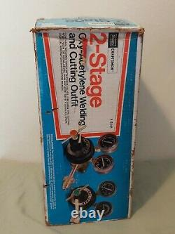 9-5441 Craftsman Gas Welding Cutting Kit Oxy Acetylene Oxygen Torch with Hoses NEW