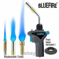 BLUEFIRE Metal Handle Interchangeable Tube Gas Welding Torch Kit, 3 3 Tubes Kit