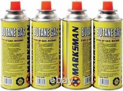 Blow Torch Butane Gas Kit Flamethrower Welding Auto Ignition 4 Bottles Soldering