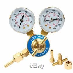 CGA 540 Welding Gas Welder Oxygen Regulator Oxy Pressure Gauge Torch Cutting Kit