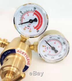 Dual Gauge ACETYLENE Solid Brass Regulator 4 Welding Victor Gas Torch Cutting