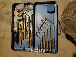 EWO Gas Welding Cutting Torch Kit Set Oxy Acetylene Oxygen Brazing with Case