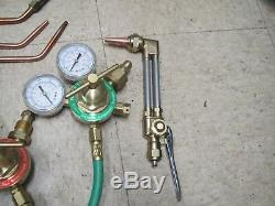 Flame Tech Oxy Acetylene Gas Welding / Cutting Torch Kit with Bag
