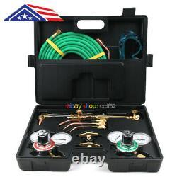 Gas Cutting Torch Welding Torch Kit Oxygen Acetylen Goggle Spark Hose Metal Tool