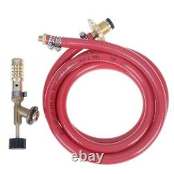Gas Self Ignition Plumbing Turbo Torch With Hose Solder Propane Welding NYJdn