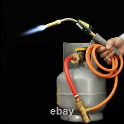 Gas Self Ignition Turbo Torch Hose Solder Propane Welding HVAC Plumbing 4 Flame