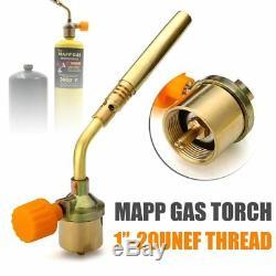 Gas Soldering Torch Portable MAPP Gas Turbo Torch Propane Welding Nozzles Bra