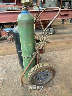 Gas Welding Cart Dolly Haul Tanks Torch Equipment Heavy Duty Carrier