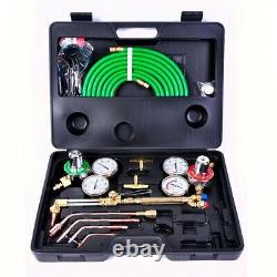 Gas Welding Cutting Kit Acetylene Oxygen Torch Brazing With Hose Durable Tool