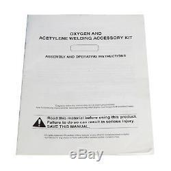 Gas Welding Cutting Kit Acetylene Oxygen Torch Set Regulator Free Oxy Kit