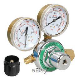 Gas Welding Cutting Kit Acetylene Oxygen Torch Set w Free 3 Nozzles Regulator