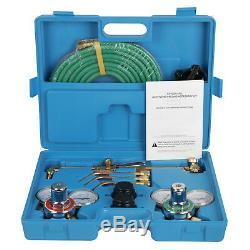 Gas Welding &Cutting Kit Acetylene Oxygen Torch Welder Regulator with Carry Box