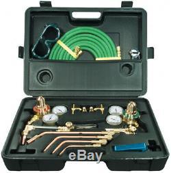 Gas Welding Cutting Kit Oxy Acetylene Oxygen Torch Brazing Fits Aluminum