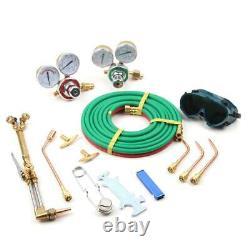Gas Welding Cutting Kit Oxy Acetylene Oxygen Torch Brazing Fits + Plastic Box