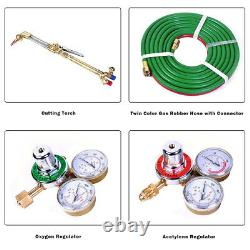 Gas Welding Cutting Kit Oxy Acetylene Oxygen Torch Brazing Fits VICTOR WithHose