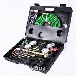 Gas Welding Cutting Kit Oxy Acetylene Oxygen Torch Brazing Fits VICTOR WithHose US