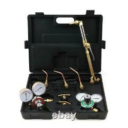 Gas Welding Cutting Kit Oxy Acetylene Oxygen Torch Brazing Fits with Twin Hose Kit