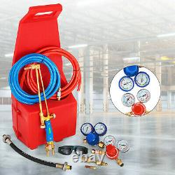 Gas Welding Cutting Kit Oxy Propan Oxygen Torch Brazing Fits 10' Hose withRed tote