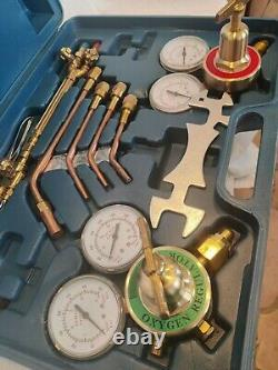 Gas Welding & Cutting Kit Oxygen Torch Acetylene Welder Tool/Set withCase as seen