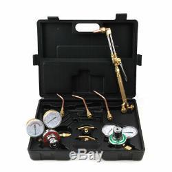 Gas Welding & Cutting Kit Victor Type Acetylene Oxygen Torch Set Regulator New