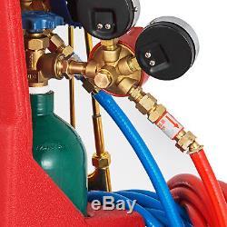 Gas Welding & Cutting Torch Kit 4L Oxygen Tank 2L Propane Tank and Regulator
