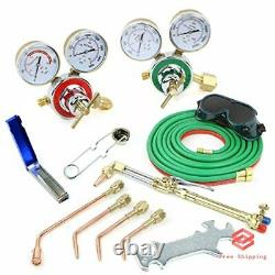 Gas Welding Cutting Torch Kit Portable Oxy Acetylene Oxygen Brazing Set with Case