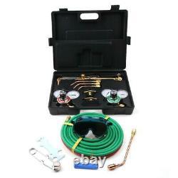 Gas Welding Cutting Welder Kit Oxy Acetylene Oxygen Torch Hose Case