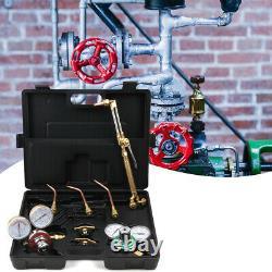 Gas Welding Cutting Welder Kit Oxy Acetylene Oxygen Torch WithHose Black Case USA